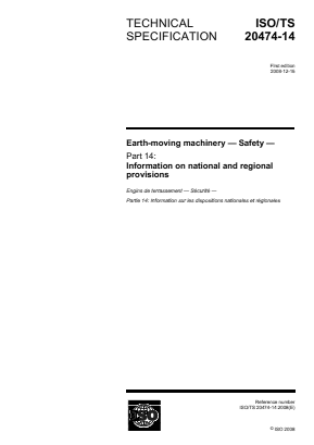 Earthmoving Machinery - Safety - Information on National and Regional Provisions (Draft).
