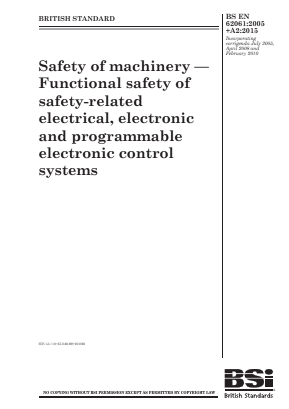 Electrical, Electronic and Programmable Control Systems - Functional Safety.