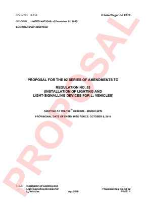 Lighting and Signalling Installation - L3. Proposal for the 02 Series.