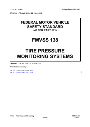Tyre Pressure Monitoring Systems.
