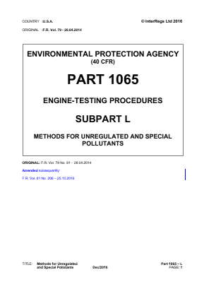 Methods for Unregulated and Special Pollutants.