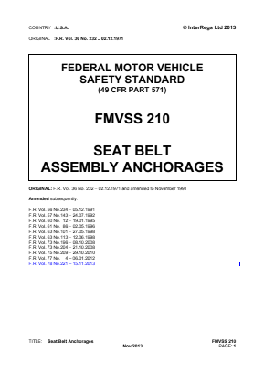 Seat Belt Assembly Anchorages.