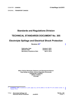 Electrolyte Spillage and Electrical Shock Protection.