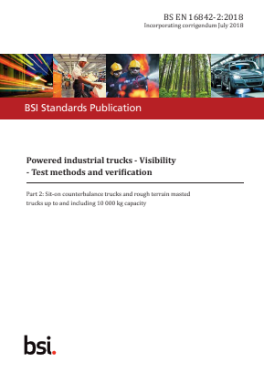 Industrial Trucks - Visibility - Test Methods - Part 2 : Sit-on Counter Balanced Trucks and Rough Terrain Masted Trucks up to and Including 10,000kg Capacity.