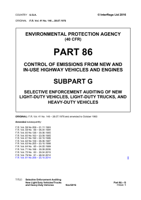 Selective Enforcement Auditing - New Light-duty Vehicles, Light-duty Trucks, and Heavy-duty Vehicles.