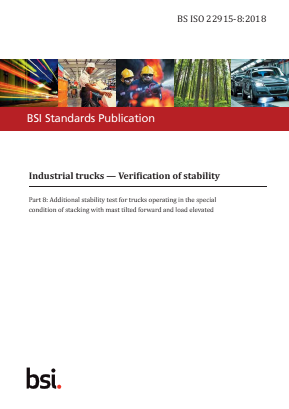 Industrial Trucks - Stability Tests - Part 8 - Stacking with Mast Tilted Forward.