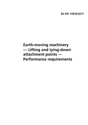 Lifting and Tying Down Attachment Points - Earthmoving Machinery.