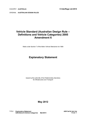 Definitions and Vehicle Categories.