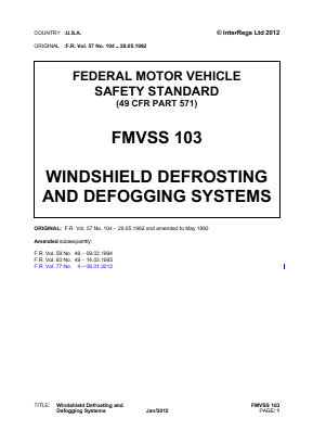 Windscreen Defrost and Defog Systems.