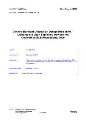Lights and Signals not Covered by ECE Regulations.