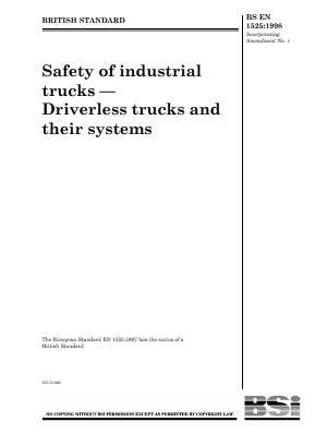 Industrial Trucks - Safety - Driverless Trucks.