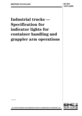 Industrial Trucks - Indicator Lights for Container Handling and Grappler Arm Operations.
