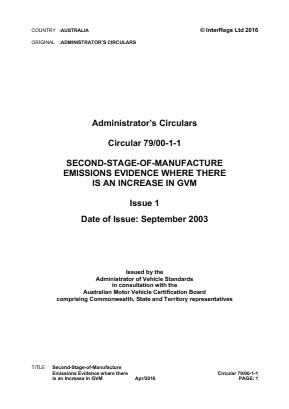 Second-Stage-of-Manufacture Emissions Evidence where there is an Increase in GVM.