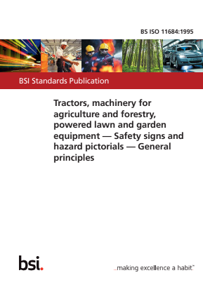 Safety Signs and Hazard Pictorials - Tractors, Machinery for Agricultural and Forestry, Powered Lawn and Garden Equipment.