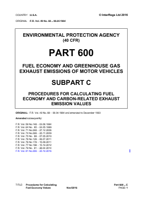 Procedures for Calculating Fuel Economy Values.