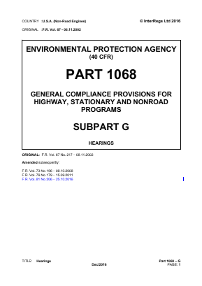 General Compliance Provisions for Highway, Stationary and Non-road Programs - Hearings.