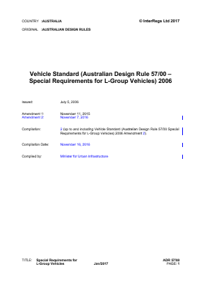 Special Requirements for L-group Vehicles.