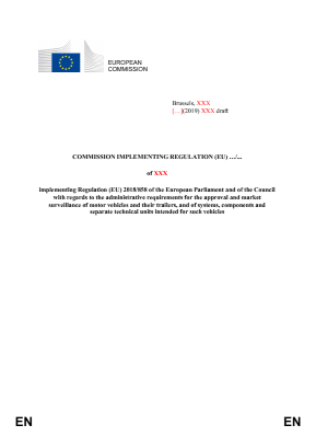 Draft Commission Implementing Regulation, TCMV Meeting of 30-01-2020