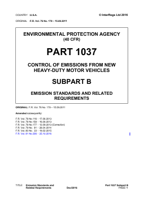 Emission Standards and Related Requirements.