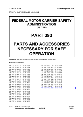 Parts and Accessories Necessary for Safe Operation.