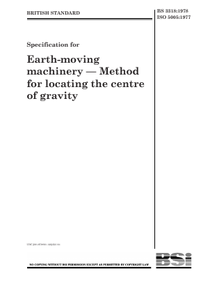 Centre of Gravity - Locating - Earthmoving Machinery.