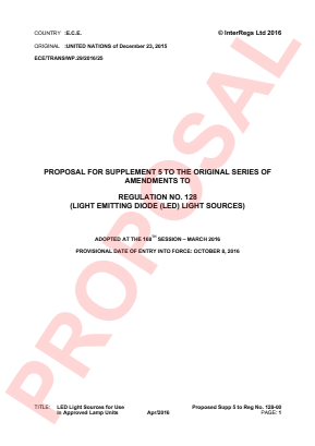 LED Light Sources for Use in Approved Lamp Units. Proposed Supplement 5 to the 00 Series.