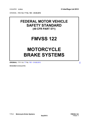 Motorcycle Brake Systems.