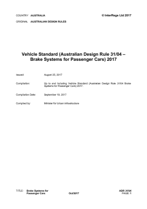 Brake Systems for Passenger Cars.