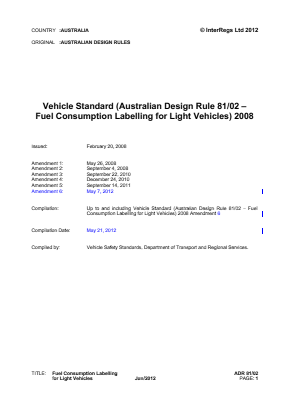Fuel Consumption Labelling for Light Vehicles.