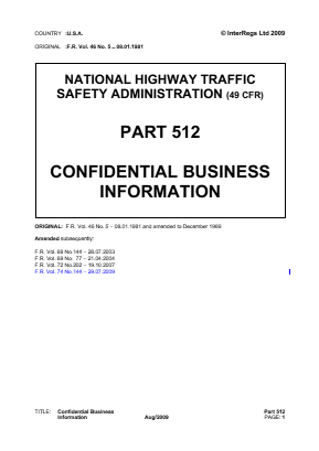 Confidential Business Information.